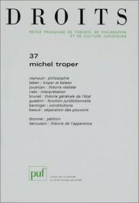 Droits, numéro 37 : Michel Troper