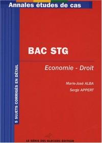 Annales Baccalauréat STG Economie et droit