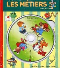 Les métiers. Livre puzzle avec CD-ROM