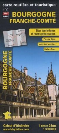 Bourgogne Franche-Comté, carte régionale, routière et touristique