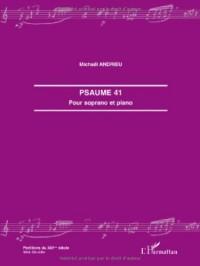 Psaume 41 : Pour soprano et piano
