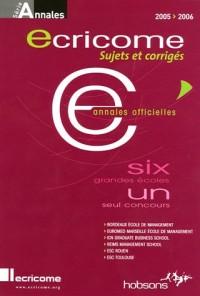 Ecricome : Annales du concours 2005