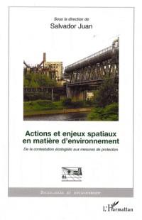 Actions et enjeux spatiaux en matière d'environnement