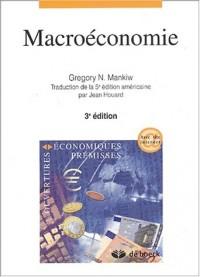 Macroéconomie. 3ème édition