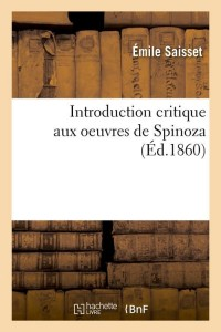 Introduction Critique de Spinoza  ed 1860
