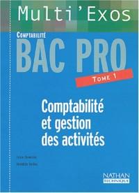 Multi'exos : Comptabilité et Gestion des activités, Bac pro Comptabilité, tome 1 (Fiches)