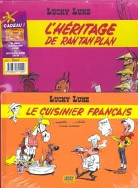 Lucky Luke, 2 BD pour le prix d'une : L'Héritage de Rantanplan -Le Cuisinier français (gratuit)