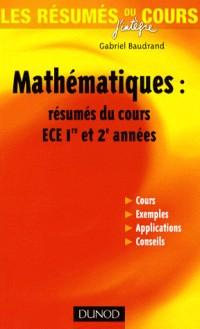 Les résumés du cours de mathématiques ECE : 1ère et 2ème année