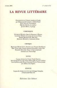 La Revue littéraire, N° 11, Février 2005 :