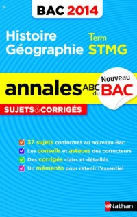 Annales Bac 2014 Histoire/Géo Term Stmg Sujets & Corriges N18