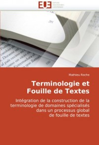 Terminologie Et Fouille de Textes