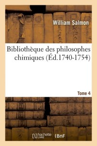 Bibliotheque Philo Chimiques T 4 ed 1740 1754