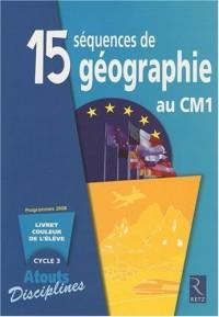 PACK 6 CAHIERS 15 SEQUENCES DE GEOGRAPHIE AU CM1 Livre scolaire