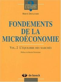 Fondements de la microéconomie. Volume 2, L'équilibre des marchés