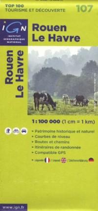 Rouen Le Havre : 1/100 000