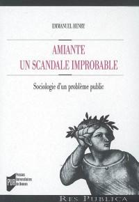 Amiante : un scandale improbable : Sociologie d'un problème public