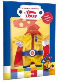 La tenue de super-héros de Loup : Une combinaison, une cape et un masque