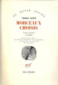 Morceaux choisis : textes anciens et inédits
