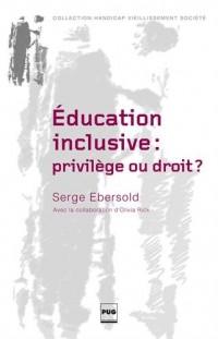 Education inclusive : privilège ou droit ? : Accessibilité et transition juvénile