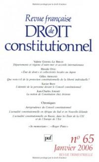 Revue française de Droit Constitutionnel, N° 65 :
