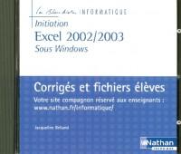 CD-ROM EXCEL 2002/2003 (LUTRIN) PROFESSEUR 2005 Livre scolaire
