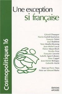 Cosmopolitiques, N° 16 : Une exception si française