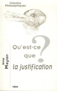 Qu'est-ce que la justification ?