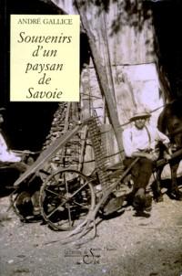 Souvenirs d'un paysan de Savoie (Les mémoires d'André Gallice,....)