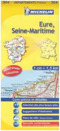 Eure, Seine-Maritime : 1/150 000