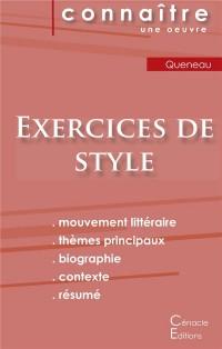 Fiche de lecture Exercices de style de Raymond Queneau (Analyse littéraire de référence et résumé complet)