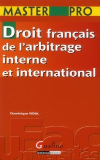 Master Droit F Arbitrage Interne et International