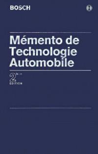 Mémento de technologie automobile : 2ème édition