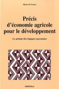 Précis d'économie agricole pour le développement