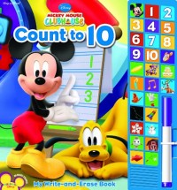My Write-and-Erase Sound Book: Mickey Mouse Clubhouse Count to 10