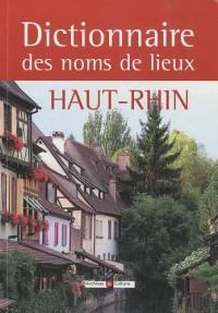 Dictionnaire des noms de lieux du Haut-Rhin