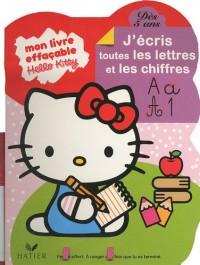 Mon livre effaçable Hello Kitty, j'écris toutes les lettres et les chiffres, dès 5 ans : Un feutre offert