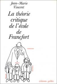 La théorie critique de l'école de Francfort