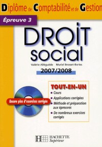 Droit social DCG, épreuve 3 (1Cédérom)