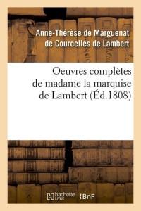 Oeuvres Compl de Mise de Lambert  ed 1808