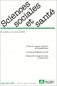 Revue sciences sociales et santé, volume 21, numéro 3