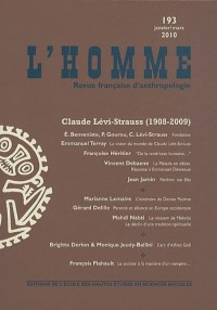 L'Homme, N° 193, Janvier-Mars : Claude Lévi-Strauss (1908-2009)