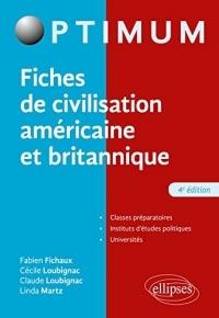 Fiches de civilisation américaine et britannique - 4e édition