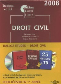 CD-Rom Dalloz Etudes Droit civil 1ere année 2008