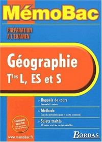 MEMO PREPA.EXAM. GEOGRAPHIE TERMINALE    (Ancienne Edition)