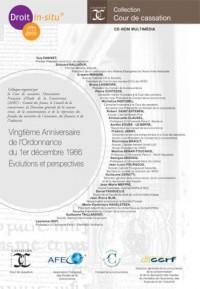 Vingtième Anniversaire de lOrdonnance du 1er décembre 1986  Évolutions et perspectives