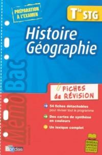 Histoire Géographie Tle STG : Fiches de révision