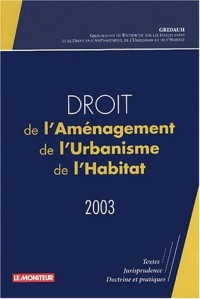 Droit de l'Aménagement, de l'Urbanisme et de l'Habitat (DAUH), numéro 7