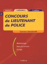 Concours de lieutenant de police : Catégorie B