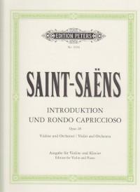 EDITION PETERS SAINT-SAËNS C. - INTRODUCTION ET RONDO CAPRICCIOSO OP. 28 - VIOLON ET PIANO
