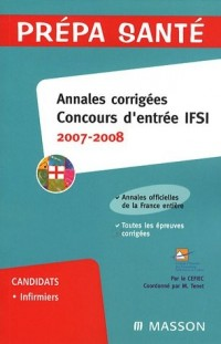 Annales corrigées Concours d'entrée IFSI